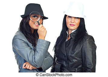 Portrait of two detectives women