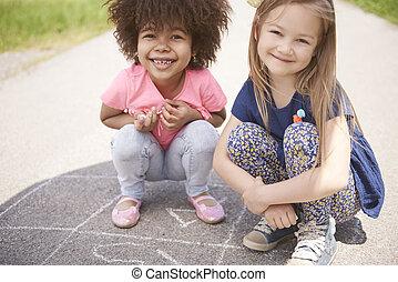 Portrait of two little friends