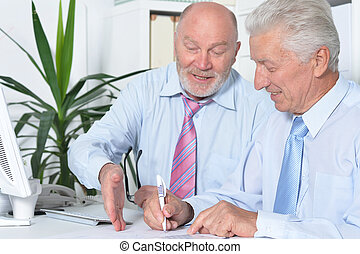 senior Business people working together