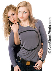 Portrait of two sexy young women