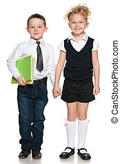 Portrait of two students