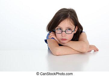 Portrait of upset little girl