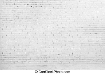 White brick wall for background