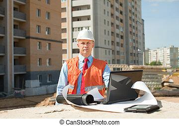 Portrait of white-collar worker - Portrait of white-collar...