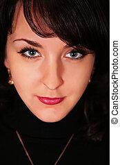 portrait of woman brunette