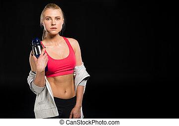 woman in sports clothing - portrait of woman in sports ...