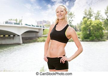 Portrait of woman in sportswear