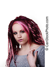 Portrait of woman with dreadlocks hair - woman with dread...