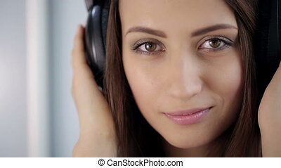 Portrait of Woman With Headphones