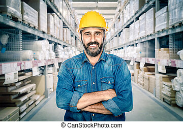 portrait of worker crossed arms