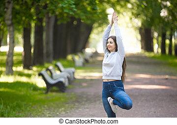 Portrait of yogi young woman