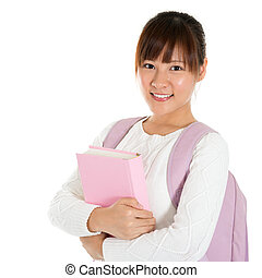 Asian female student