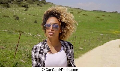 Portrait Of Young African-American Woman Outdoor