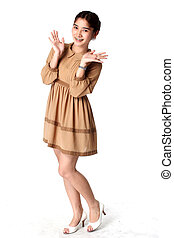 portrait of young asian beautiful woman
