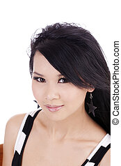 Portrait of Young Attractive Asian American Woman