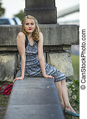 young attractive woman sitting