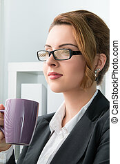 Portrait of young beautiful business woman