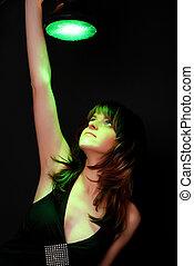 woman with green lantern