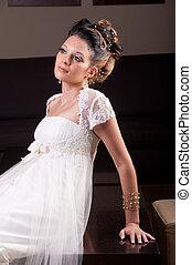 portrait of young bride