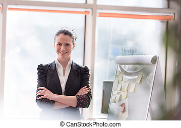 portrait of young business woman at modern office