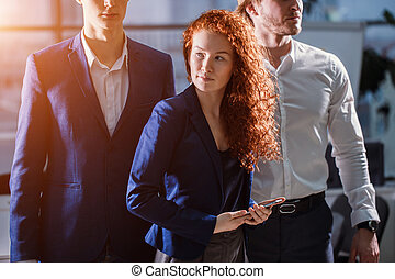 Young Businessman With Business Team