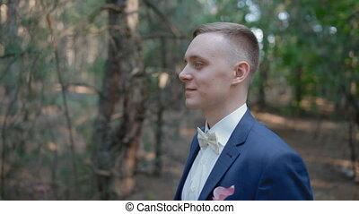 Portrait of young caucasian man