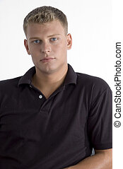 young caucasian man - portrait of young caucasian man with ...