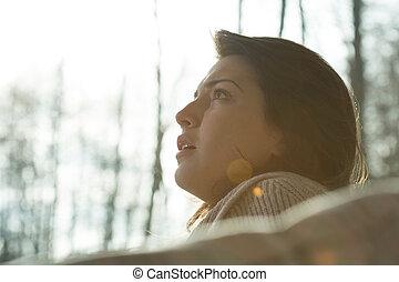 Portrait of young despair woman