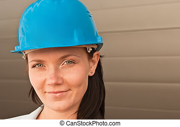 Portrait of  young engineer on construction site