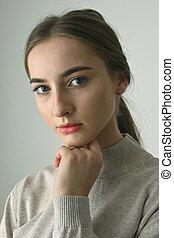 Portrait Of Young Girl shoot in Studio