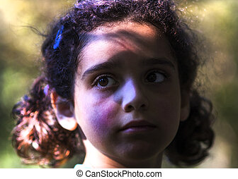 Portrait of  young hispanic girl