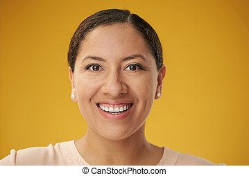 Portrait of young hispanic woman