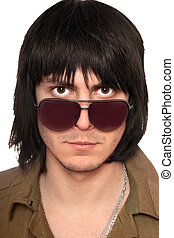 Portrait of young man in sunglasses