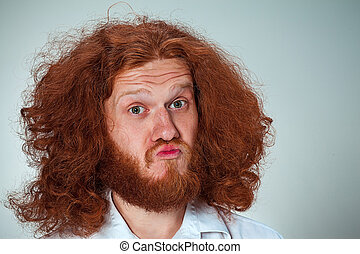 How redhead men with long hair indefinitely