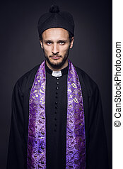 Portrait of young pastor