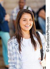 pretty high school student