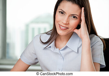 Portrait Of Young Smiling Business Woman