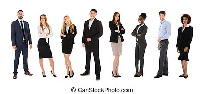 Portrait Of Young Smiling Businesspeople