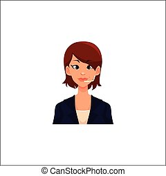 Portrait of young smiling cheerful female call center operator