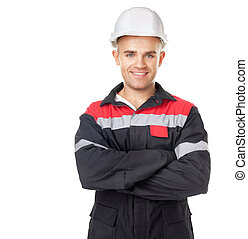 Portrait of young smiling engineer