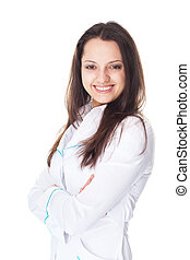 Portrait of young smiling female doctor