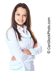young smiling female doctor
