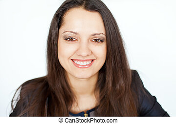 Portrait of young smiling woman