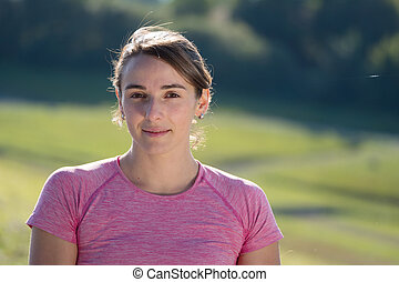 portrait of young sporty woman