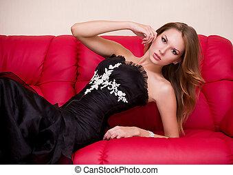 woman in beautiful dress