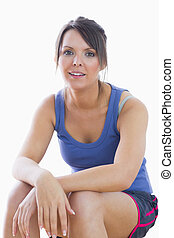 Portrait of young woman in sportswear