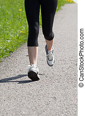 Portrait Of Young Woman Jogging