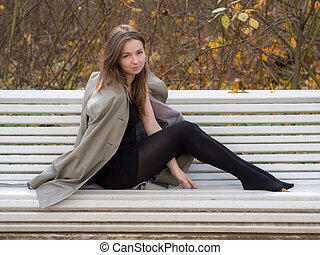 portrait on the bench
