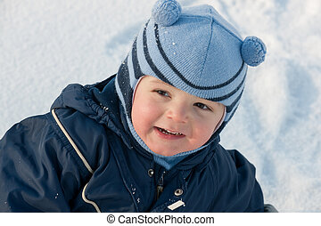 Portrait on the snow