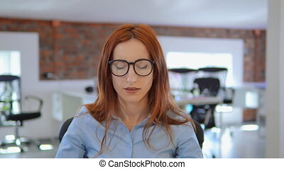 portrait, ouvrier, femme